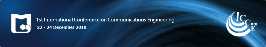 1st International Conference on Communication Engineering